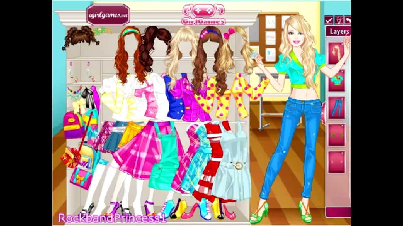 Cartoon Characters You Can Dress Up As : Barbie school girl dress up game girls games youtube