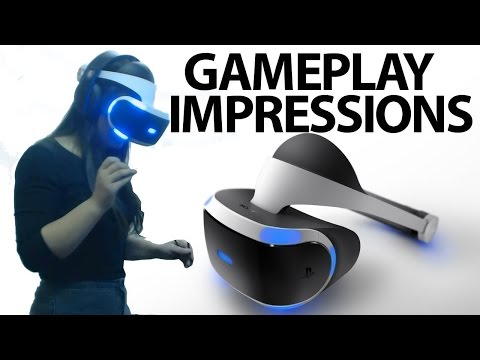 Playstation VR Gameplay - Hands On Impressions!