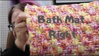 Basket Weave Bath Mat -Right Crochet Tutorial #FroggyDayCrochet