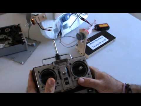 Arahal Motor brushless reciclado de un lector de CD DVD. Ramos
