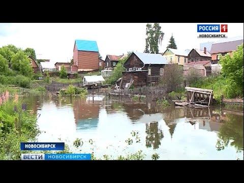 Дома частного сектора в Новосибирске оказались под водой