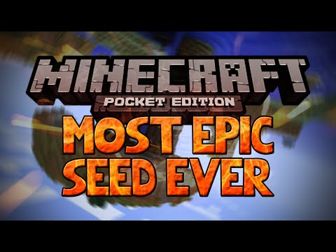 MOST EPIC SEED EVER!!! - Minecraft Pocket Edition Seed 0.10.4 (NEW)