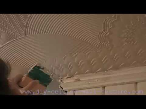 Banned Fan Shell Comb Texture Mud Finish Artex Style Ceiling Pattern Youtube