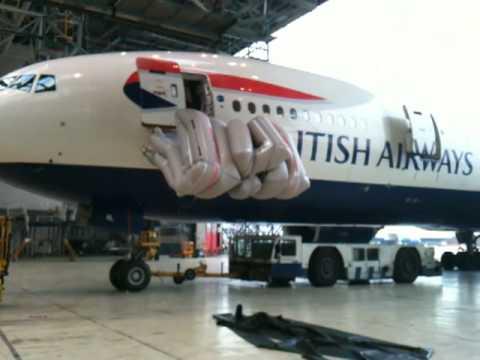Escape Slide Raft Boeing 777 Escape Slide Test
