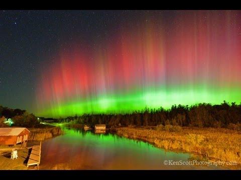 Aurora Borealis ... over Leelanau County 10-2-13