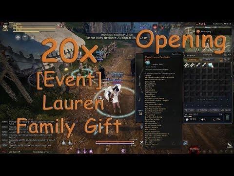 Black Desert Online - 20x [Event] Lauren Family Gift Box Opening ...