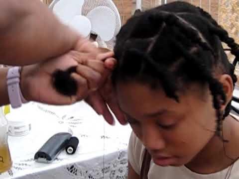 Kids Hair Styleafrican Hair Threading Youtube