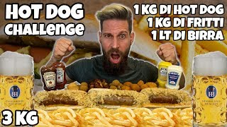 HOT DOG Challenge - (Oktoberfest) - Cheat Day - MAN VS FOOD