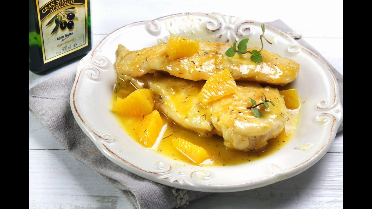 Pechuga de pollo en salsa de naranja youtube - Pechuga d pollo en salsa ...