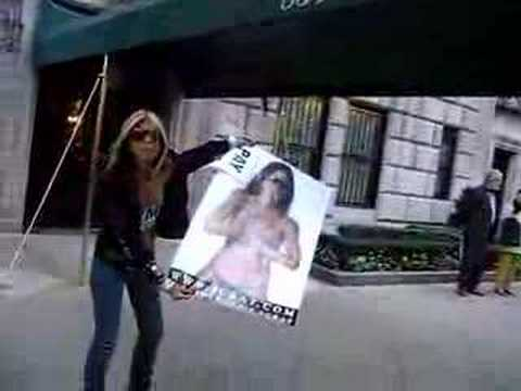 PROTEST AT RUPERT MURDOCH'S 5AVE APARTMENT 2-  SUPERSONIC