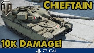 10,000+ DAMAGE! Huge Chieftain Mk 6 Game - WoT PS4 (Guest Replay)
