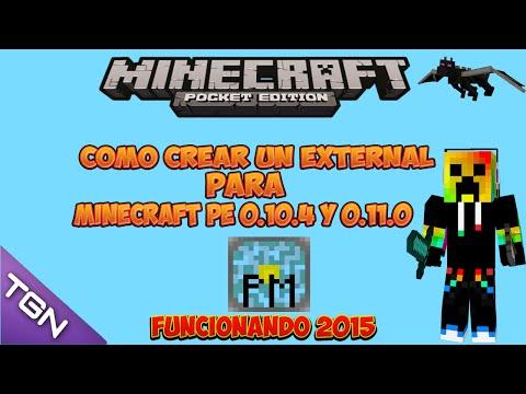 Como Crear Un External Server | Minecraft PE 0.10.4 Y 0.11.0 | Tutorial español