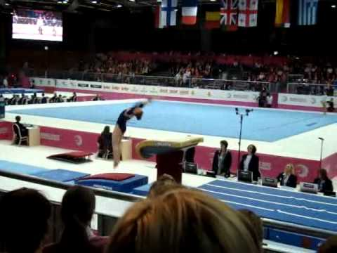 Ruby HARROLD GBR, Vault, Team Final, European Gymnastics Championships 2012