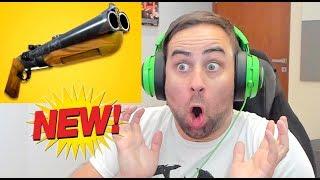 *NEW*ENDARY DOUBLE BARREL SGUN IS INSANE!! Erik REACTS To New Gun in Fortnite: Bae Royale