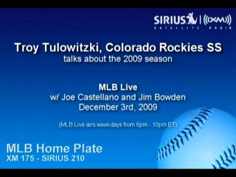Troy Tulowitzki, Rockies SS, talks about the 2009 season - SIRIUS|XM Radio Video