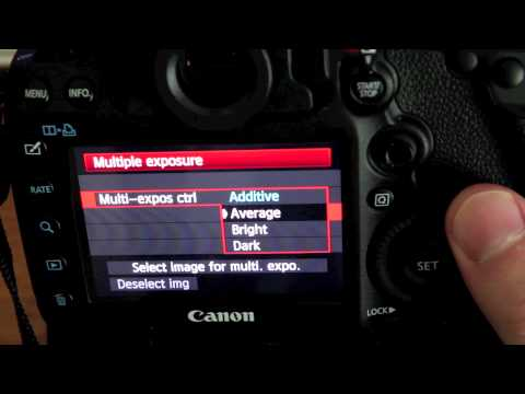 Canon 5D Mark iii Multiple Exposure Tutorial - YouTube