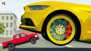 Beamng drive - Real Cars vs Toy Сars crashes #8 (real cars vs RC cars crashes)
