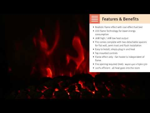 Focal Point Fires - Inset LED Electric Fires