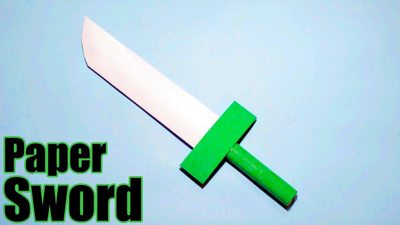 Как сделать меч из бумаги - оригами схема 45