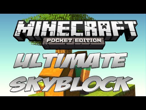 Minecraft Pocket Edition : ULTIMATE SKYBLOCK SEED !!!