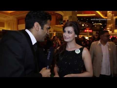 Dia Mirza and Sahil Sangha - Exclusive Interview with Kushi Media at the IIFA Rocks 2013