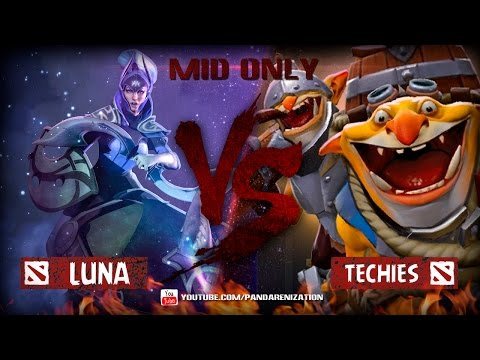 Luna VS Techies [Битва героев мидонли Dota2]
