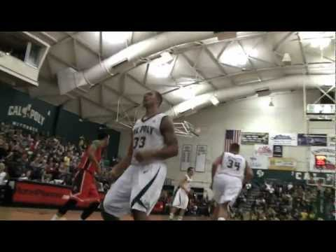 Cal Poly Men's Basketball versus Cal State Fullerton Highlight Video (March 9, 2013)