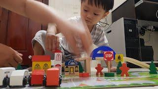 Trò Chơi Lắp Ghép Mô Hình Thành Phố Với Bộ Đồ Chơi Bằng Gỗ Cho Bé| Kids Toy Media
