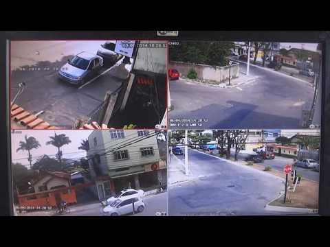 MINI NVR 4 CANAIS ONVIF 1080P GRAVADOR DE CÂMERAS IP's H264