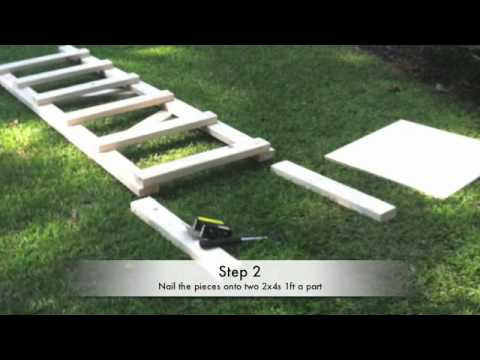 Homemade tree stand for 20 youtube for How to make a deer stand out of wood