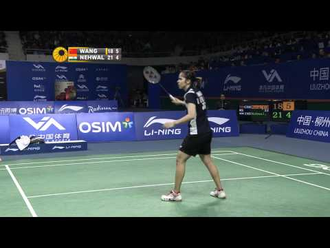 2011 OSIM BWF World Superseries Finals-WS-Finals-Yihan Wang vs. Saina Nehwal
