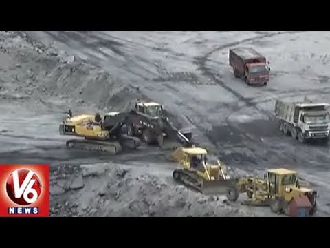 Heavy Rains Lash Jayashankar Bhupalpally District | Coal Production Stopped | V6 News