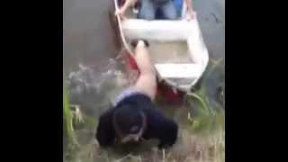[GUY FALLS IN POND!!] Video