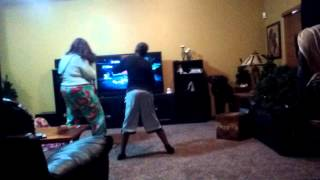 My bother and sister dancing