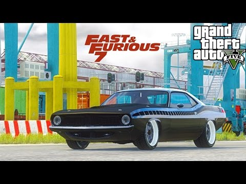 GTA V Plymouth Barracuda from Fast and Furious 7 Test Drive / Gameplay