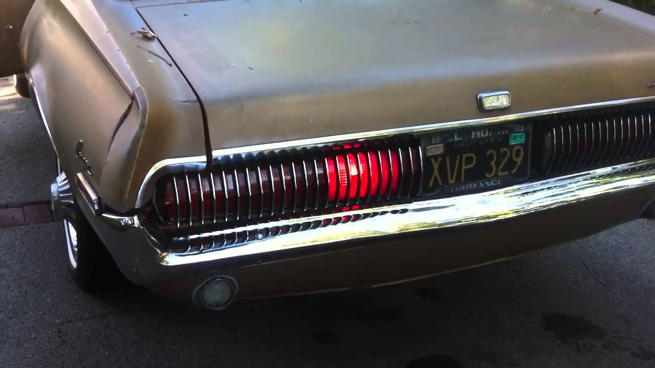 1968 Mercury Cougar Sequential Tail Lights Left Youtube