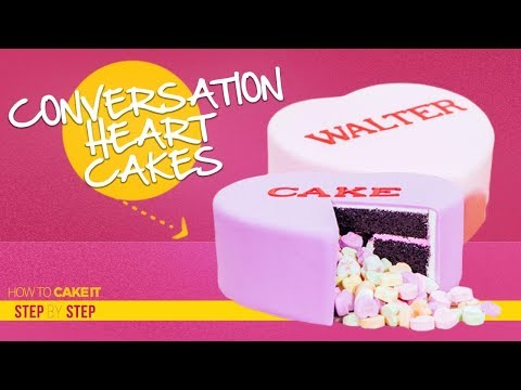 How To Make CONVERSATION HEART CANDIES out of CAKE | Step By Step | How To Cake It | Yolanda Gampp