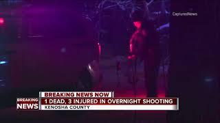 1 dead, 3 injured in overnight Kenosha County shooting