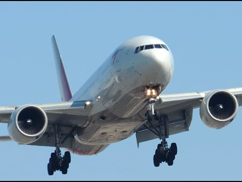 Asiana Airlines Boeing 777-200ER [HL7700] landing in LAX
