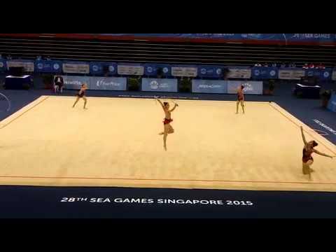 SEA Games: Singapore's gymnastics team gold