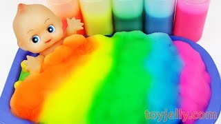 Learn Colors Baby Doll Body Paint Color Foam Bubble Bath Time Orbeez Suprise Ice Cream Cup Baby Song