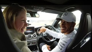 Best Day Ever! Lewis Hamilton Takes F1 fans for a Spin at MB World!