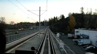 Cab view ride of Link light rail from Rainier Beach to Tukwila International Boulevard station