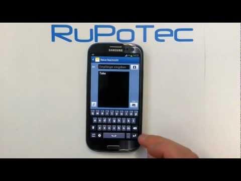 Tastatur-Texterkennung T9 beim Samsung Galaxy S3 Android ausschalten