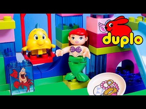 Princess Ariel The Little Mermaid Lego Duplo Building Blocks Toys La Sirenita Princesas Disney