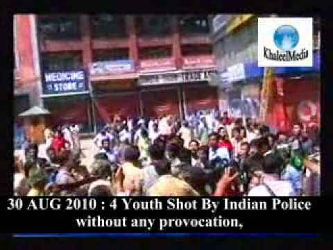 30 AUG 2010: Indian COP Goes Insane Shoots 5 youth 2 critically without any provocation
