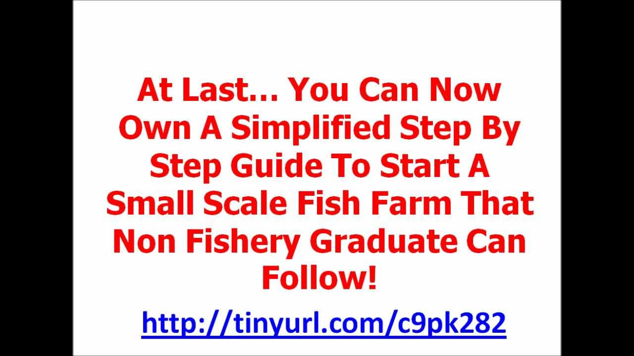 Step by step guide to start small scale fish farm http for How to start a fish farm