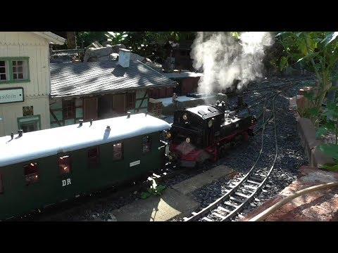 Fahrtage im Sommer (1) Echtdampf im Garten, LGB, Akkubetrieb, live steam, battery powered