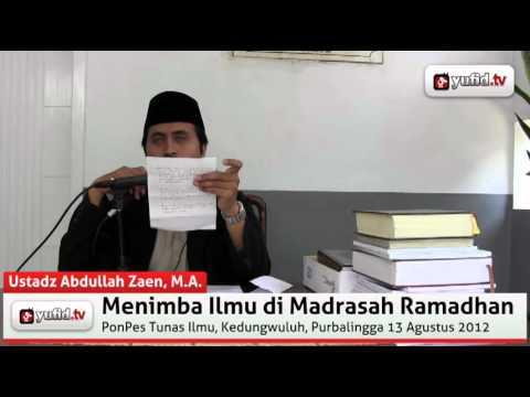 I'tikaf Ramadhan - Ustadz Abdullah Zaen