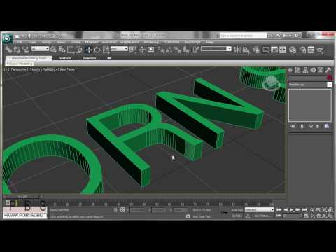 3D Studio Max Tutorial - Text